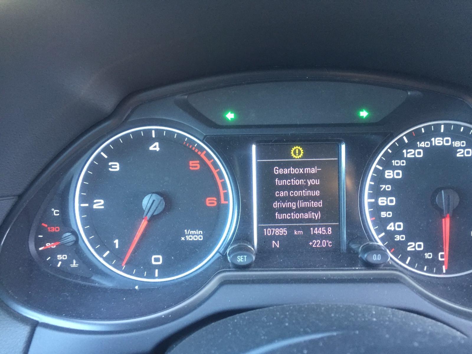 Gear box malfunction - Audi Q5 Club - Audi Owners Club (UK)